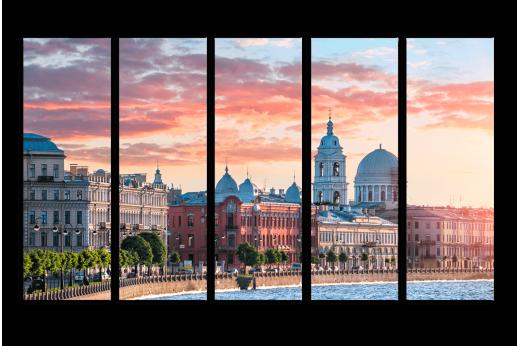 Модульная картина Набережная Петербурга
